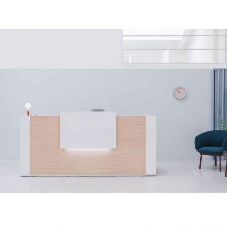 Comptoir de réception bois