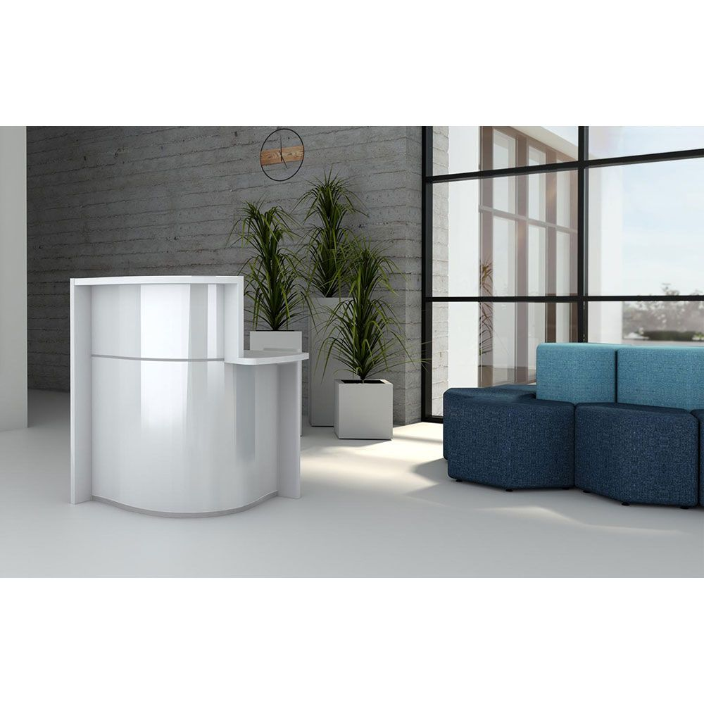 comptoir d 39 accueil arrondi. Black Bedroom Furniture Sets. Home Design Ideas