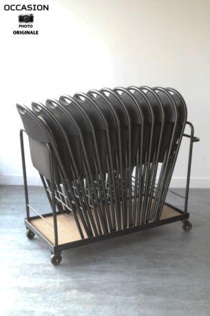 chaises pliantes tissu noir. Black Bedroom Furniture Sets. Home Design Ideas
