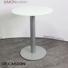 table verre occasion blanc pas cher