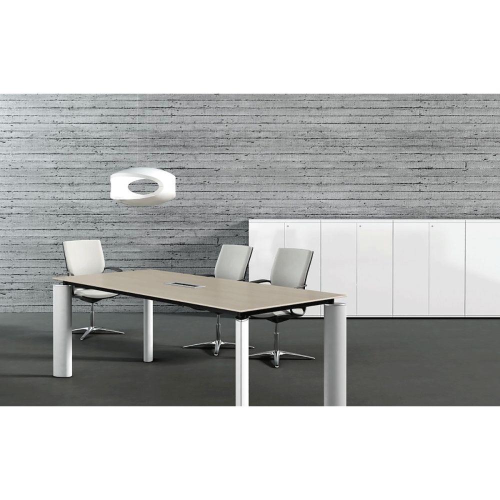 bureau de direction blanc verre ou bois. Black Bedroom Furniture Sets. Home Design Ideas