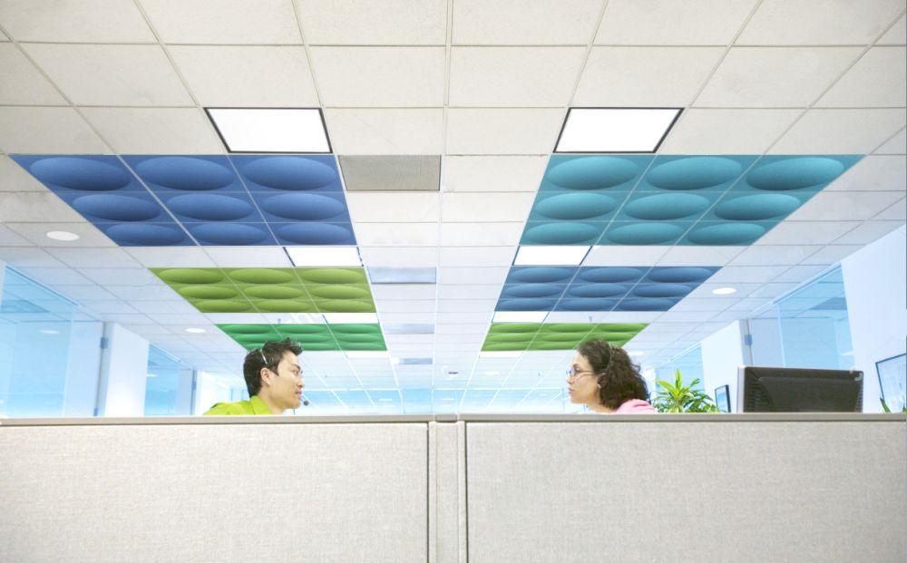 Plafond acoustique pour open space u e simon bureau