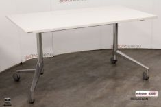 Table formation top access rabattable