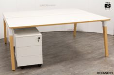 bureau scandinave table blanc bois