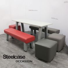 Table et banc B-Free Steelcase