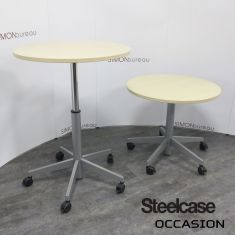 table ronde steelcase mobile réglable hauteur