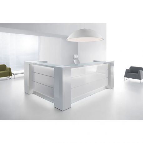 comptoir d 39 accueil blanc. Black Bedroom Furniture Sets. Home Design Ideas