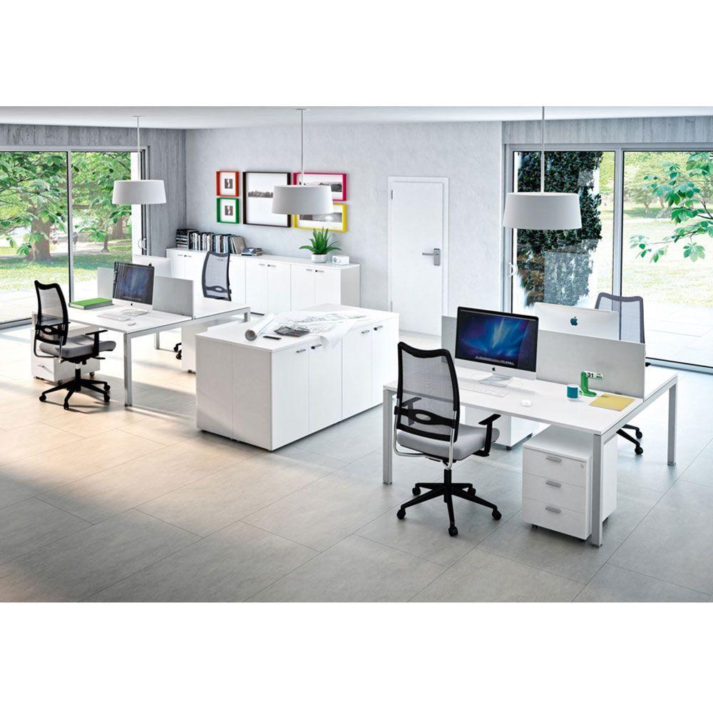 Bureau modulaire bench for Mobilier bureau 4 personnes