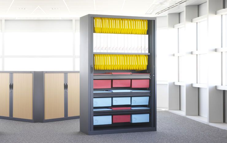 armoire rideaux bicolore. Black Bedroom Furniture Sets. Home Design Ideas