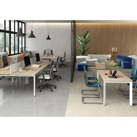 bureau bench partag. Black Bedroom Furniture Sets. Home Design Ideas