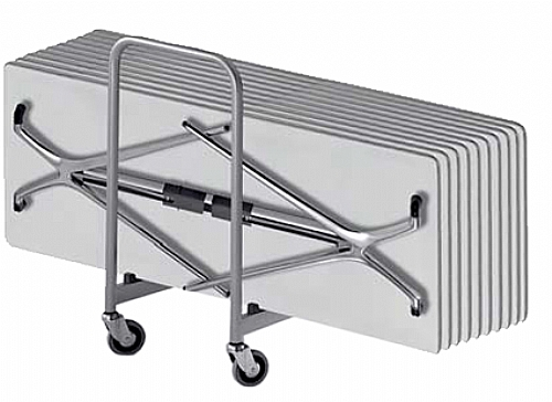table sur chariot